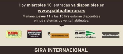 2014 - PROMO - PABLO ALBORAN - TERRAL TOUR - TEXTO 2