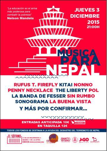 151203 - MUSICA PARA NEPAL - INFO EN EL BLOG